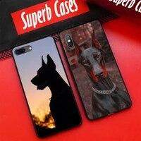 doberman dog phone case for xiaomi mi 11 ultra 10t a1 a2 i6 5x smart 8 9 se 8 lite max2 funda coque cover