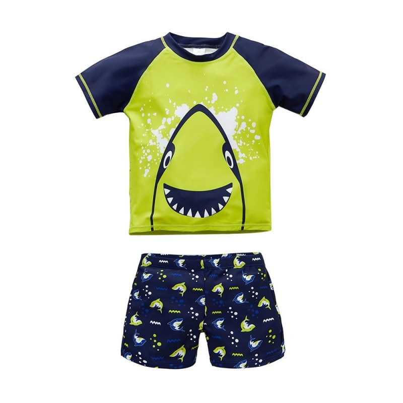 new summer baby swan swimsuit fashion ruffle flamingo kids swimsuit cute baby beach wear with matching hat free shipping yz066 Baby Swimwear Summer Animal Boys 2 Pcs Swimsuit Shark Bathing Suit Swimwear Kids Bathing Suit Beach Wear Cartoon Swimsuit