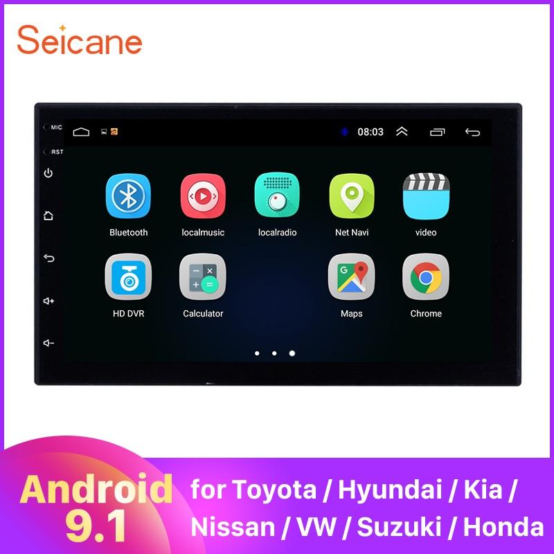 Seicane Universal 2 DIN Android 9,1 GPS para coche Multimedia Navi reproductor estéreo para Nissan QASHQAI/X-TRAIL TOYOTA COROLLA Hyundai Kia