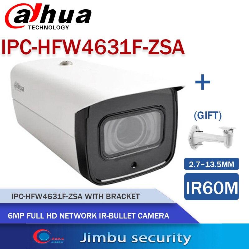 داهوا 6MP POE كاميرا HFW4631H-ZSA و HFW4631F-ZSA 2.7-13.5 مللي متر كاميرا حماية الأمن كاميرا في الهواء الطلق ترقية IPC-HFW4431R-Z