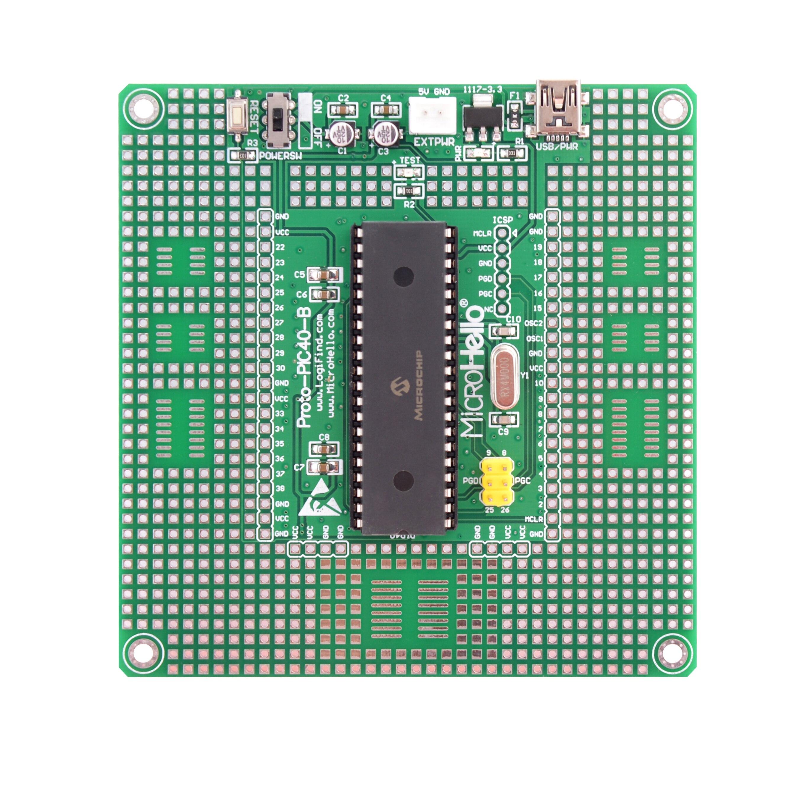 PIC dsPIC MCU التعلم مجلس التنمية ReadydsPIC-40P + dsPIC30F4011
