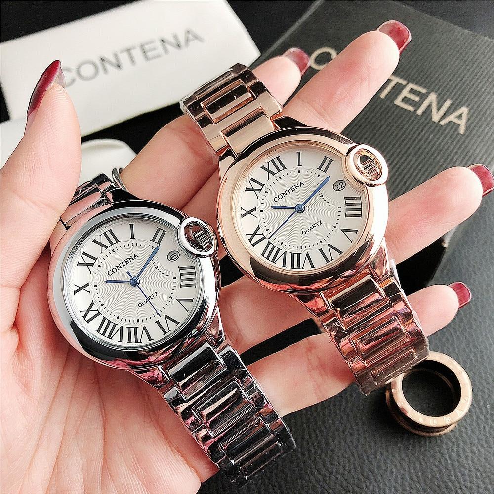 Novo relógio feminino diamante pulseira quartzo anti-estudante relógio feminino
