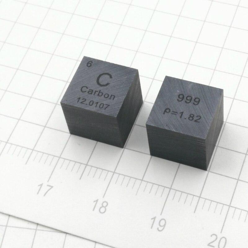 Peso do cubo do elemento do carbono do tamanho 10mm aproximadamente 1.7g 99.9% puro