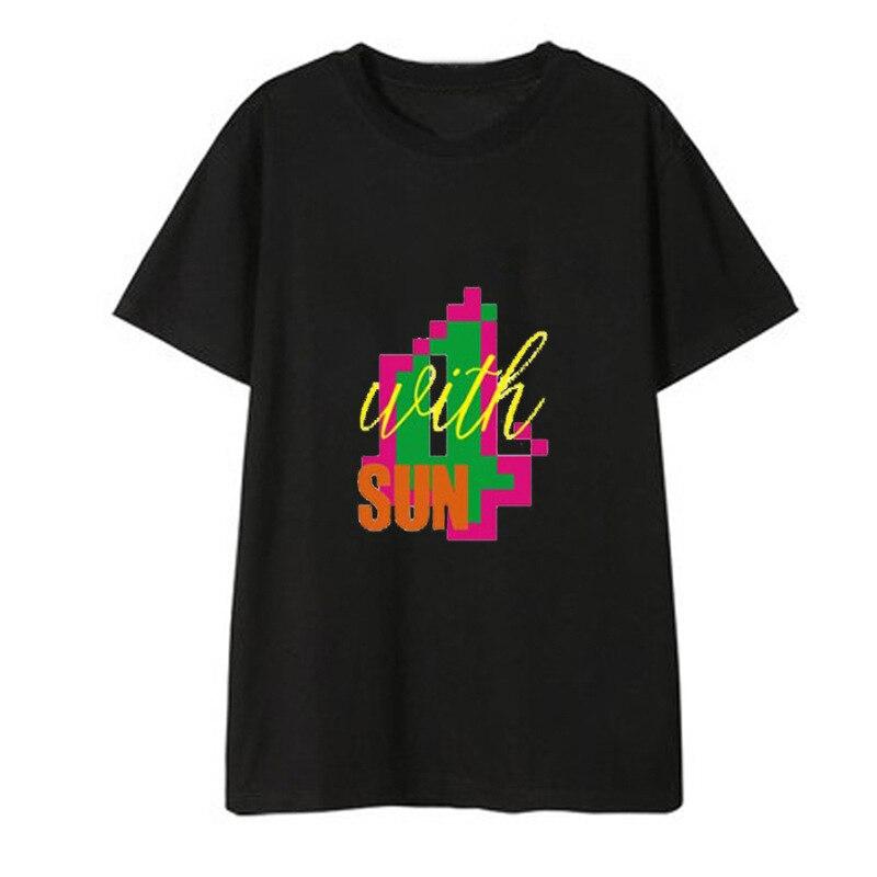 Kpop mamamoo concerto álbum camisas streetwear casual solto tshirt t camisa de manga curta camisetas dx550