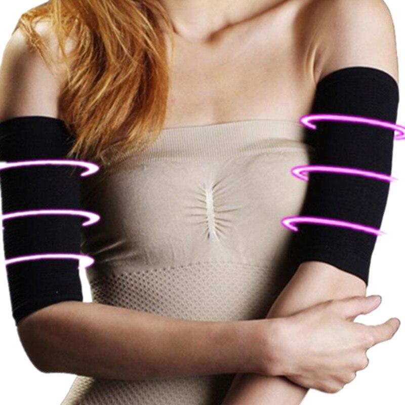 2 uds pérdida de peso calorías adelgazante Shaper brazo elástico masajeador manga quema grasa brazalete adelgazante Wraps bandas de envoltura de brazo