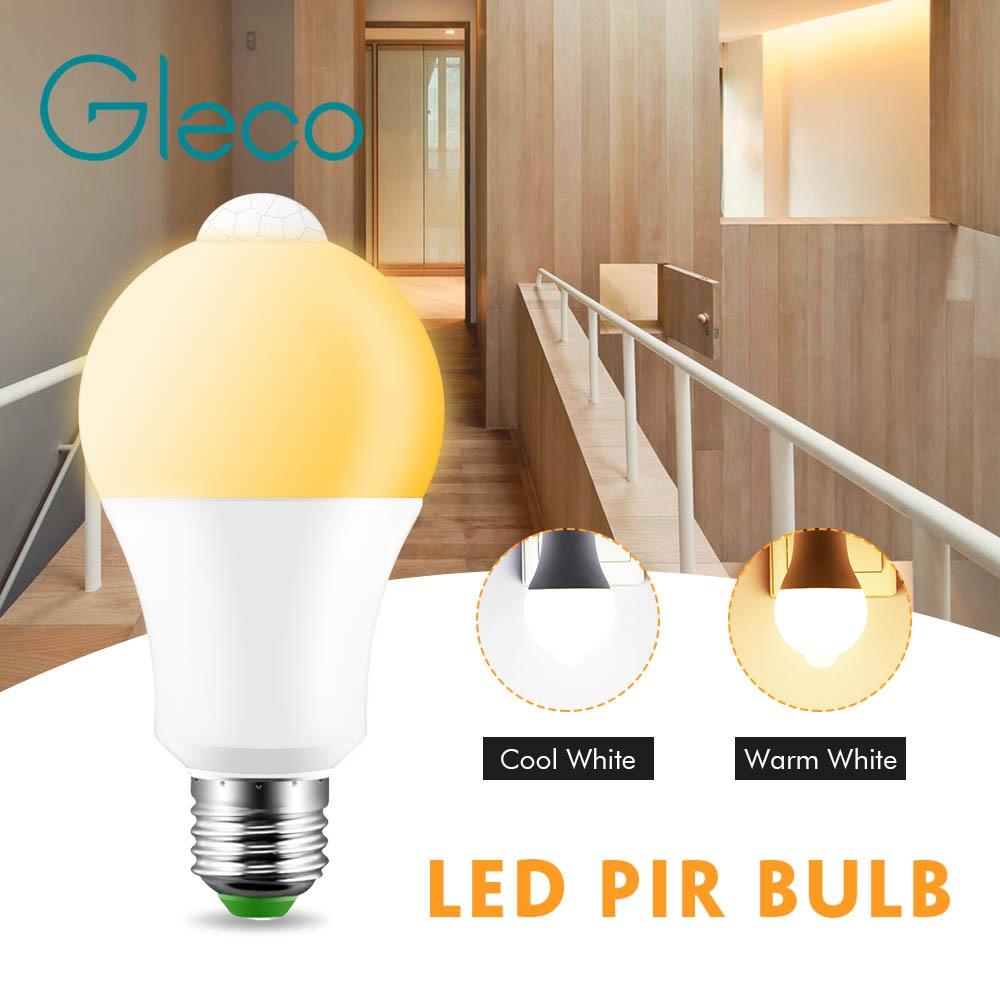 Led PIR Bulb 12W E27 Motion Detector LED Bulb lamp Body induction Auto turn on/off Stair Hallway Pathway Corridor Night lighting