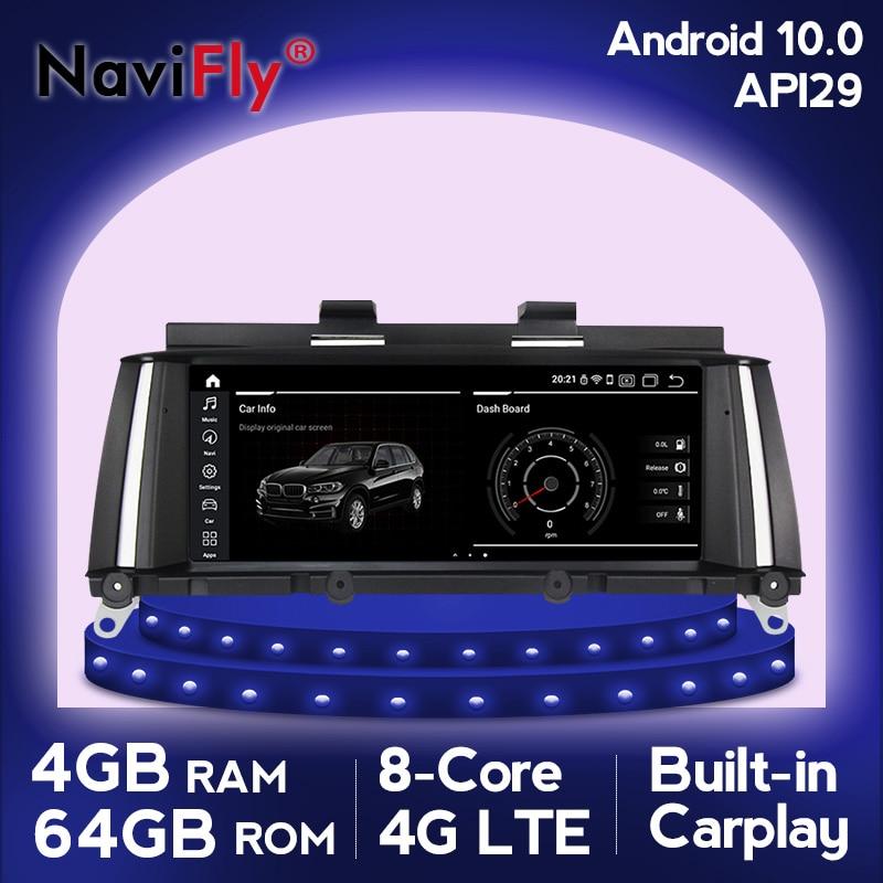 NaviFly كوالكوم أنف العجل 625 أندرويد 10 مشغل أسطوانات للسيارة لاعب لسيارات BMW X3 F25 X4 F26 CIC NBT دعم RHD نموذج واي فاي 4G LTE DSP BT