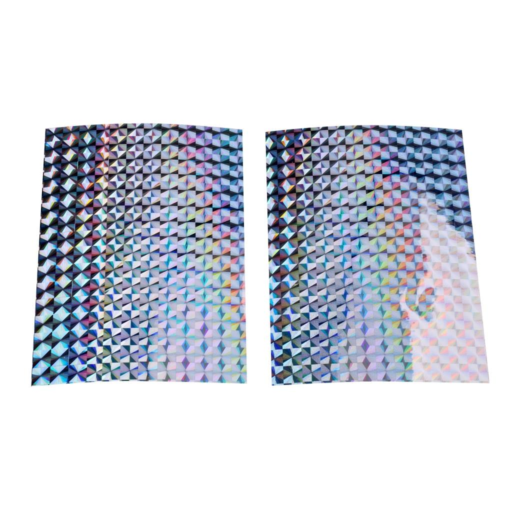 2 uds cinta adhesiva para Señuelos de Pesca Escala de prisma para señuelos de pesca accesorios de fabricación de bricolaje 10x7,4 cm