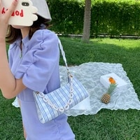 fashion pattern baguette bags mini pu leather shoulder bags for women chain designer luxury handbag female travel tote