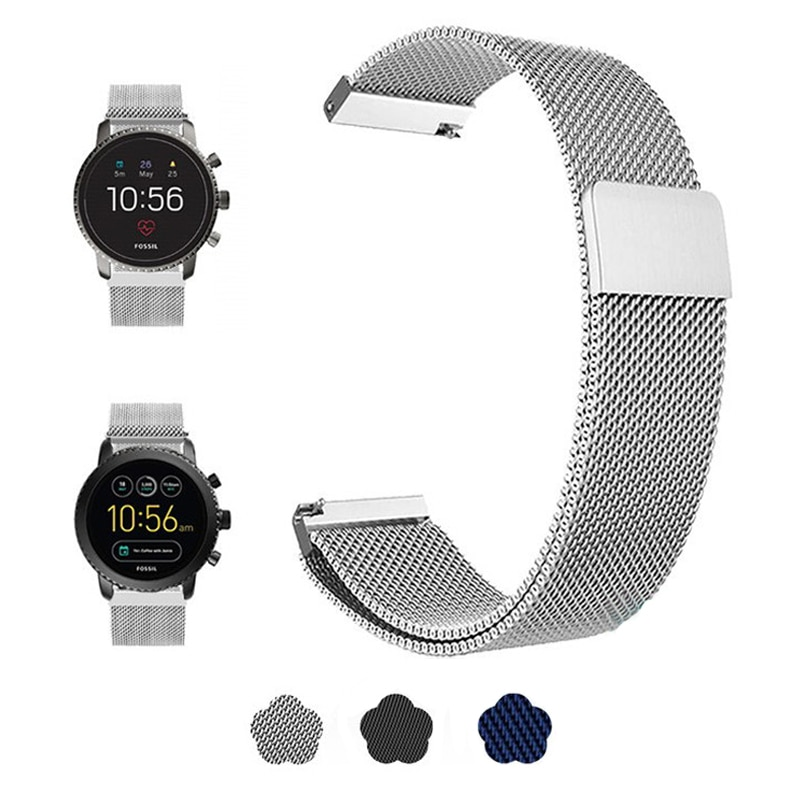Stainless Steel Watchband For Fossil Gen 4 Q Explorist HR /Gen 3 Q Explorist HR Watch Band Replace Strap Wrist Bracelet Fossi 4