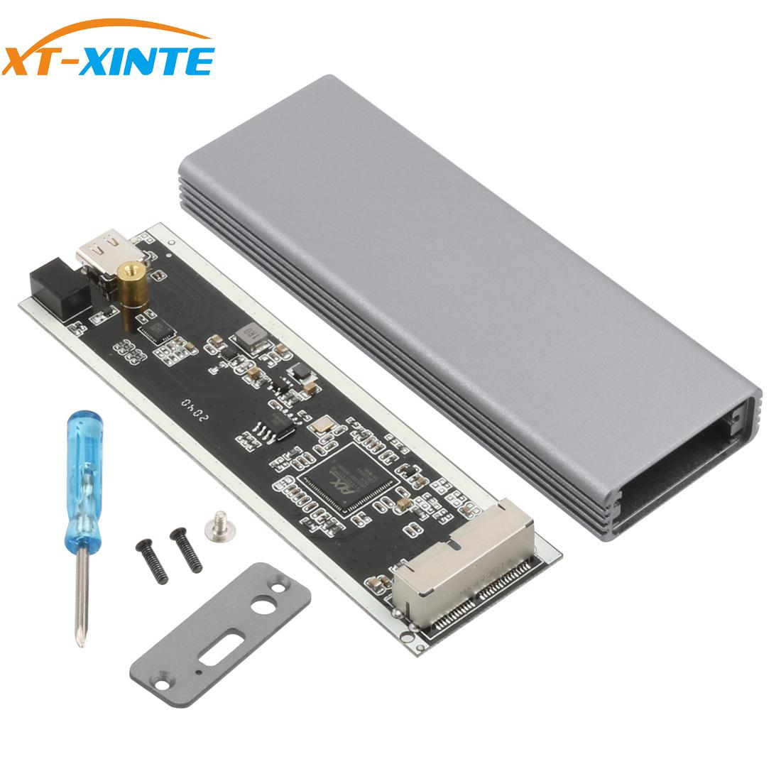 XT-XINTE Aluminum Alloy Type-C USB-C to 16+12 Pin Mobile Box HDD Enclosure for Air Pro 2013 2014 2015 2016 SSD Portable Case