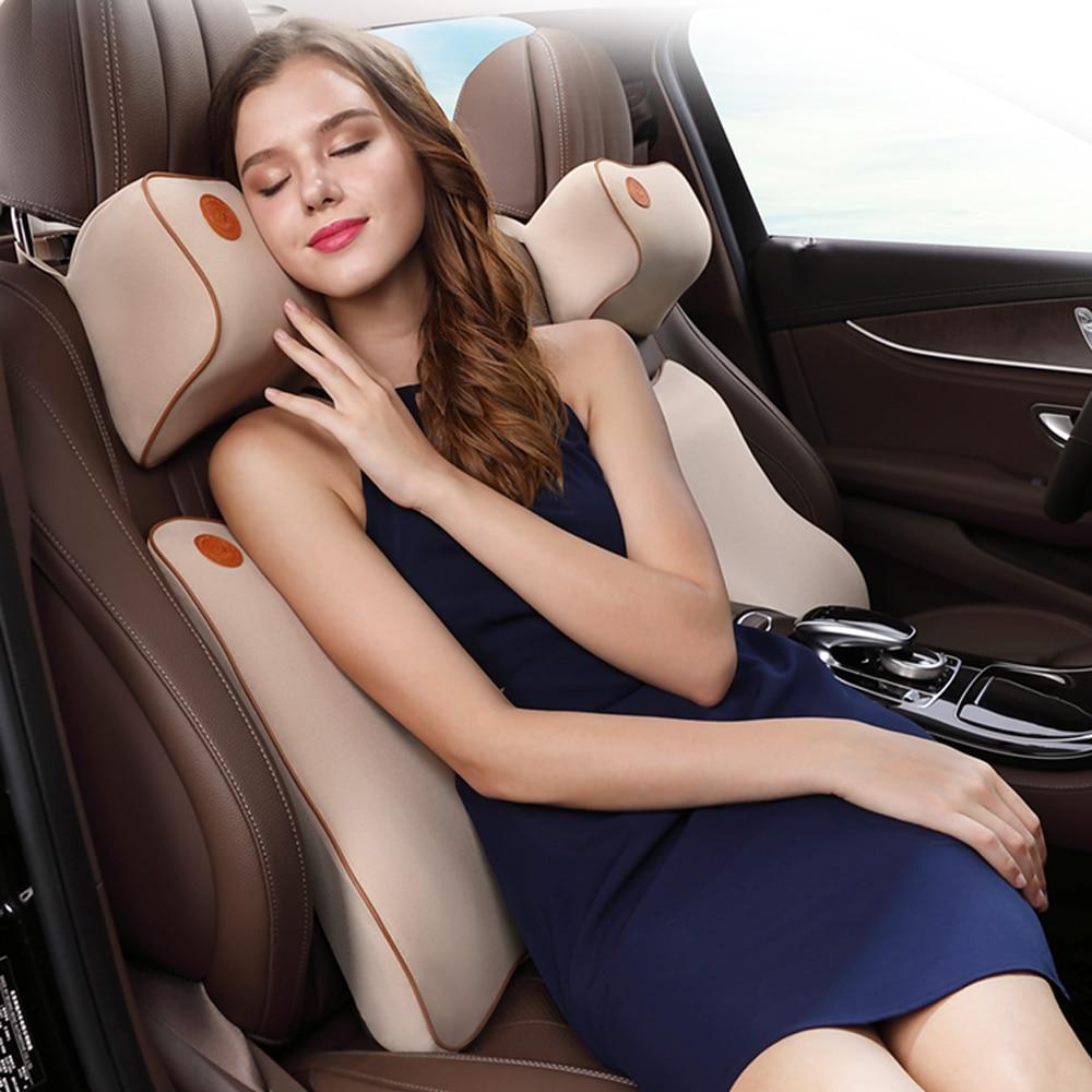 Подушка на подголовник автомобильного сиденья, Автомобильная подушка под шею из пены с эффектом памяти, опора для головы сиденья, поддержка...