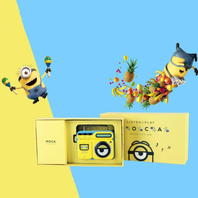 Cartoon Little Bluetooth Speaker Movie Anime Creative Radio Big Eyes Cute Outdoor Portable FM Radio Audio Gift enlarge