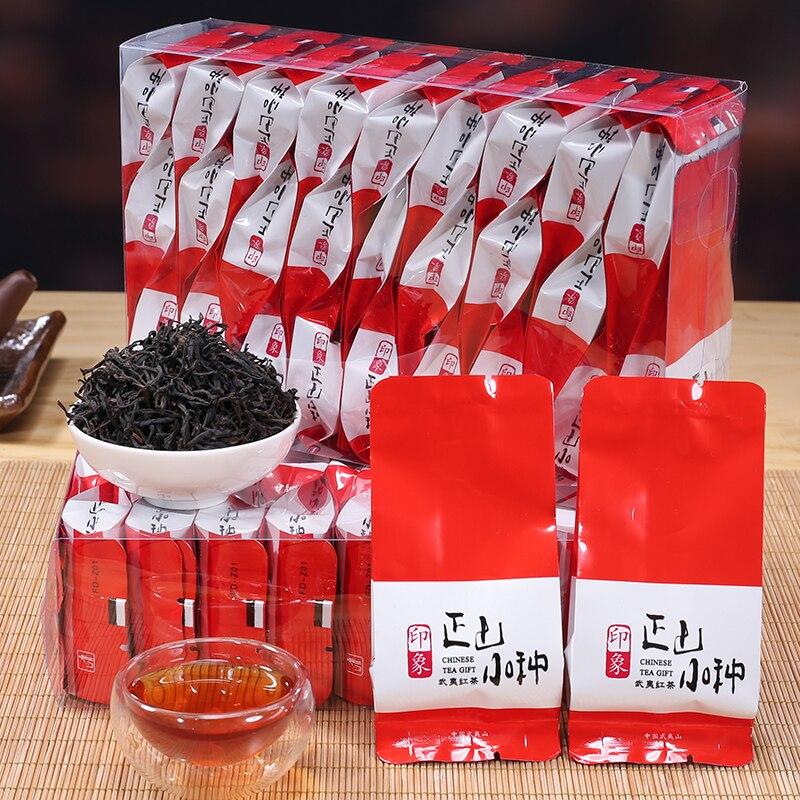 Caja de regalo de té negro Wuyishan Lapsang souchong de 125g Tongmu Guan