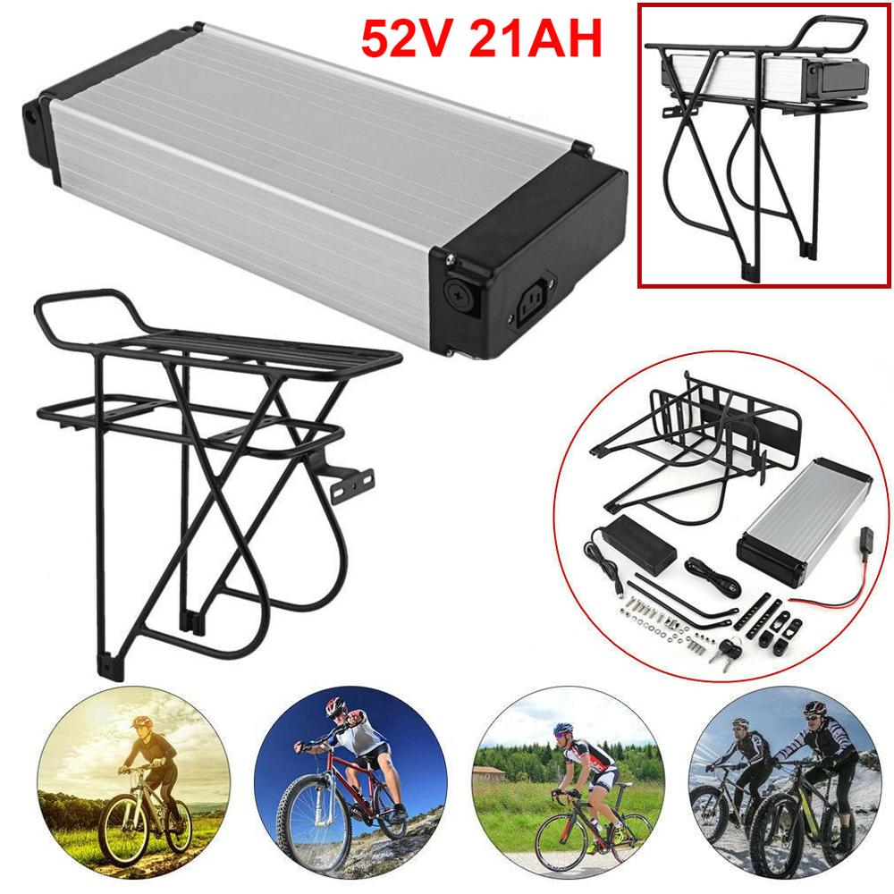 Rack trasero 52V 21AH batería de iones de litio con celdas Samsung/LG 18650 batería e-bike para Motor de bicicleta de 1000W
