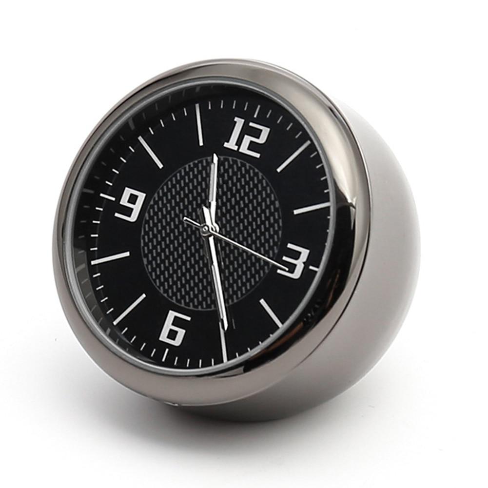 Luminosos con Clip accesorios reloj de coche de cuarzo Interior Mini aguja de salida redonda calibre Auto Universal ventilación de aire portátil