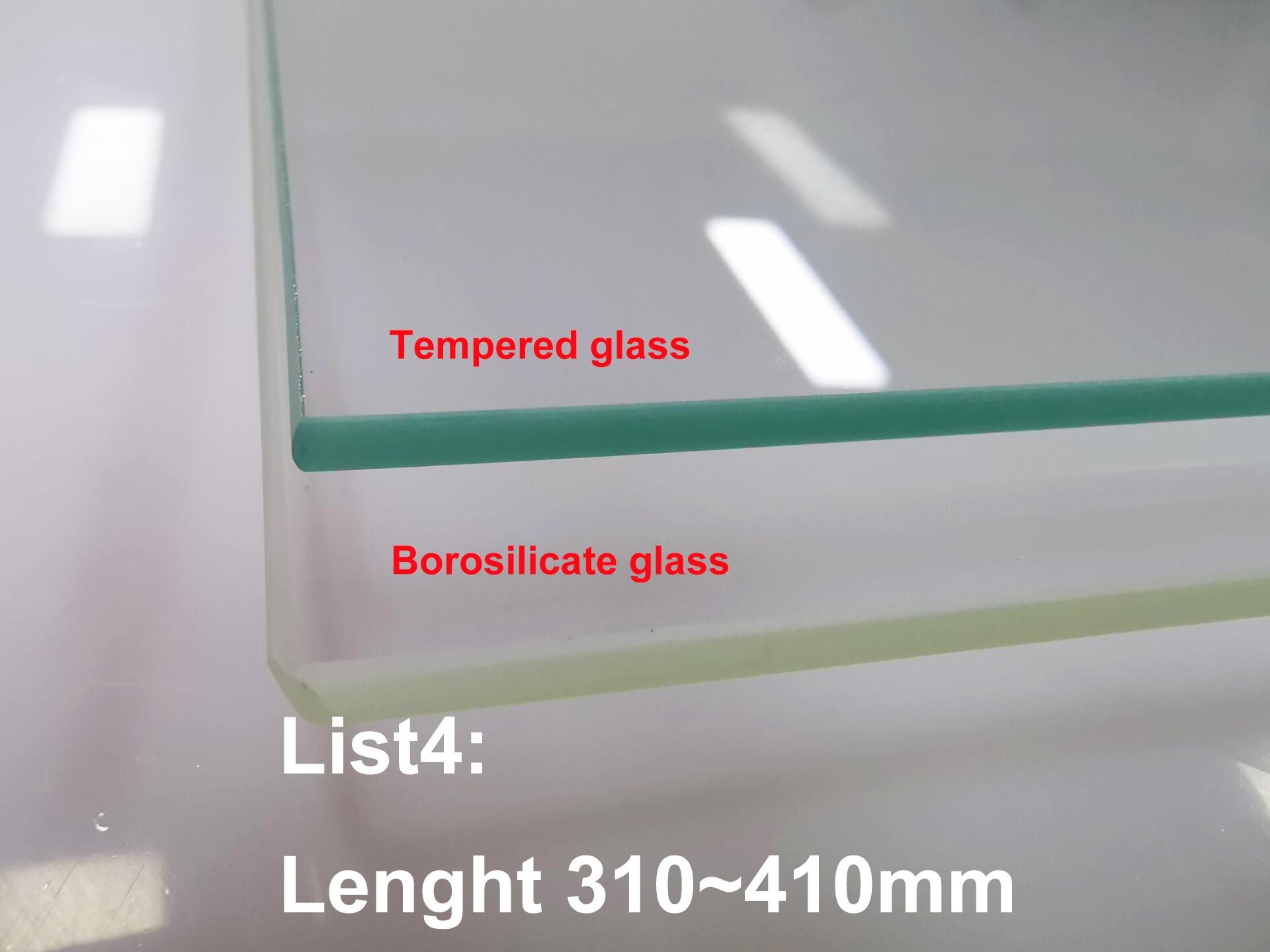 لوحة زجاجية مربعة من البورسليكات للطابعة ثلاثية الأبعاد ، سرير حراري لـ Tevo / CTC/ANET/أحادي الأرز/Creality ، قائمة 4: 310 ~ 510 مللي متر