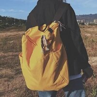 2020 new solid color high capacity travel backpack women mochila school bag for travel backpacks korean version new backpack