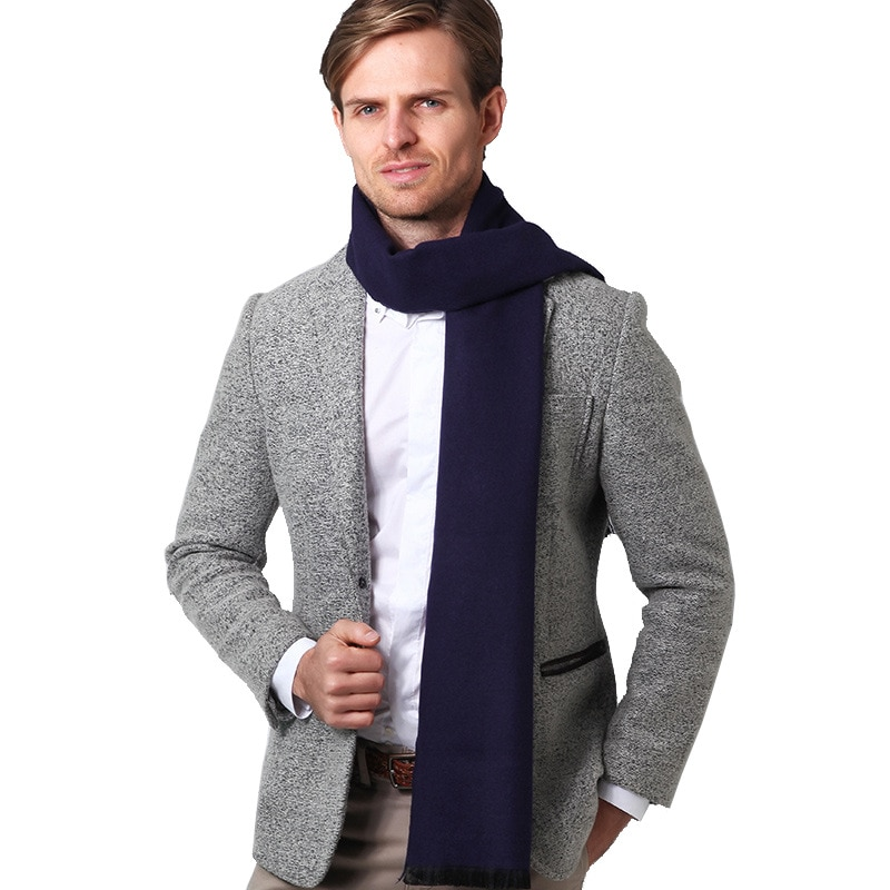 2019 nuevo invierno para hombre, bufanda de Color sólido, bufandas de cachemir...