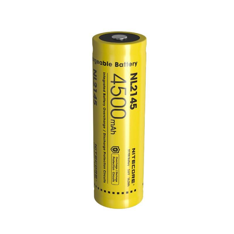 Batería recargable NITECORE 21700 Li-ion 3,6 v 16.2Wh NL2145 4500mAh batería de circuito protector de alto rendimiento para linterna