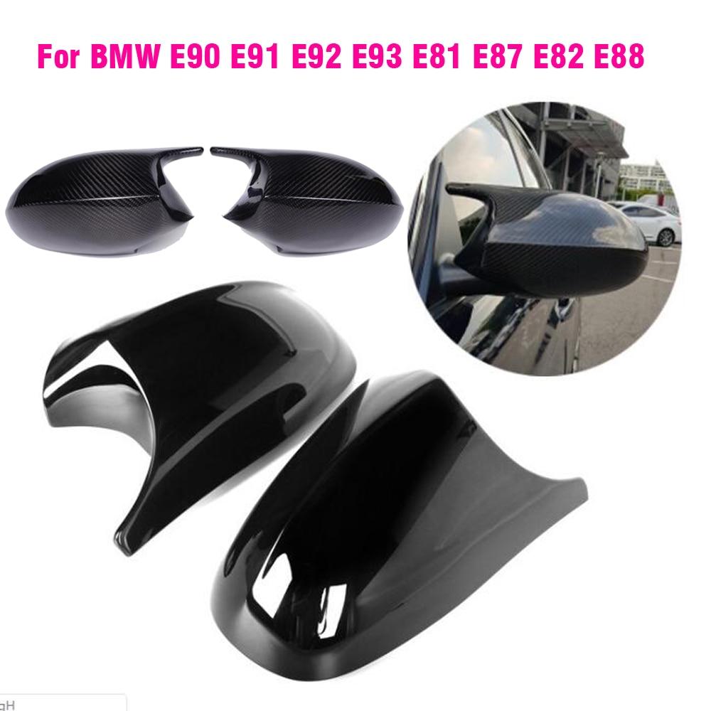 Car Side Door Rearview Side Mirror Cover Cap For BMW E90 E91 E92 E93 M3 Style E80 E81 E87 Auto Parts styling