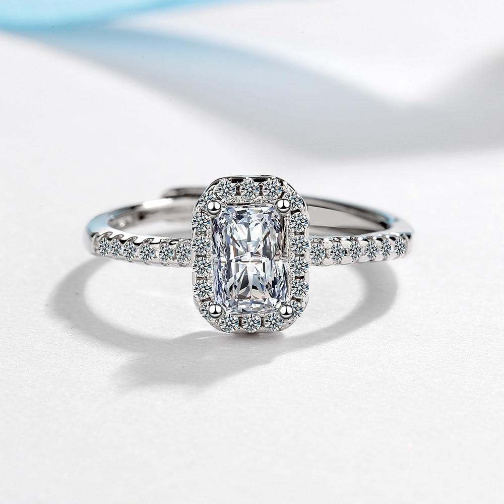 Origin Moissanite Jewelry Wedding Bands Ring for Women Anillos De Bizuteria Silver 925 Jewelry Gemstone Diamond Rings Female Box