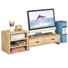 Desktop Monitor Stand Computer Care neck Screen Riser Wood Shelf Plinth Strong Laptop  Desk Holder For Notebook TV