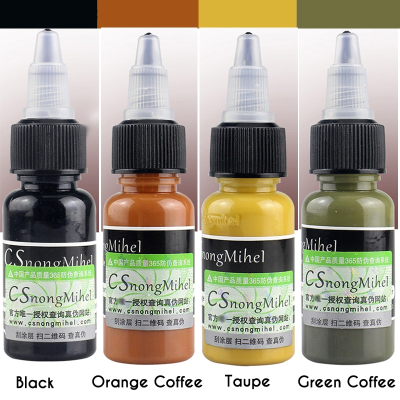15ml Microblading Pigment Eyebrow Color Correcting Pigment Semi Permanent Makeup Tattoo Ink Embroidery Pigment Tattoo Supplies aimoosi top concentrated eyebrow micro pigment for permanent makeup tattoo eyebrow microblading pigment combination tattoo ink