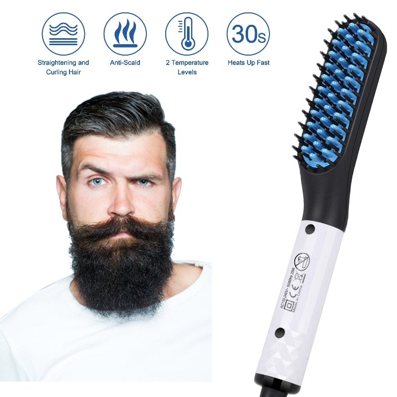 Electric Hair Straightener Multifunctional Hair Comb Brush Men's Beard Straightening Comb Quick Hair Styler for Men