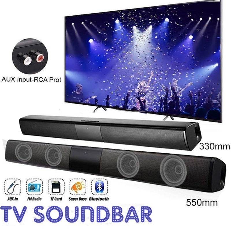 20W TV Speaker Wireless Bluetooth Speaker Portable Column Bass Soundbar Subwoofer with FM Radio for