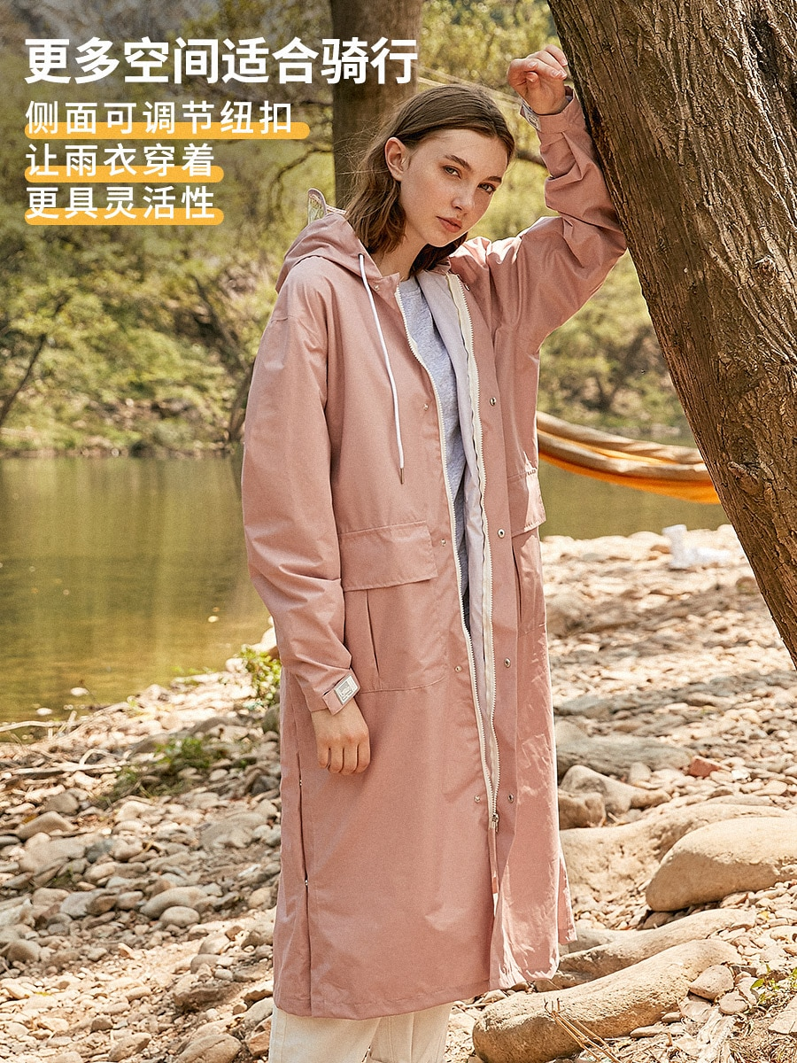 Fashion Creative Raincoat Hat Raincoat Long Coat Women Waterproof Poncho Fishing Impermeables De Lluvia Rain Gear BS50RC enlarge