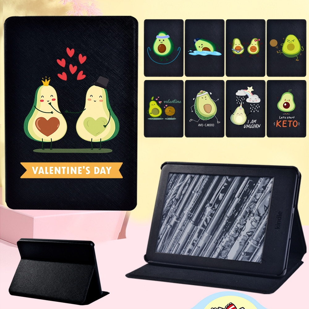 Protective Case for Amazon Kindle EReader Kindle (8th/10th Gen)/Paperwhite 1 2 3 4 Anti-shock Avocado Pattern Tablet Case + Pen