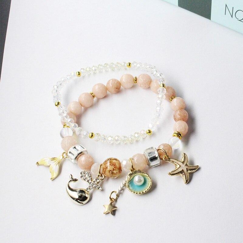 Chenfan boêmio amizade pulseiras jóias grânulo pulseira para mulheres meninas casal pulseiras com encantos jóias femininas