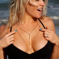 summer sexy beach body chain jewelry for women fashion pendant rhinestone bikini bra body chain gold chest chain accessories
