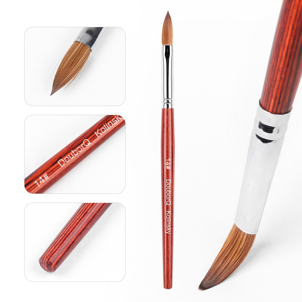 14 kolinsky escova de unhas vison caneta de cristal puro kolinsky cabelo acrilico