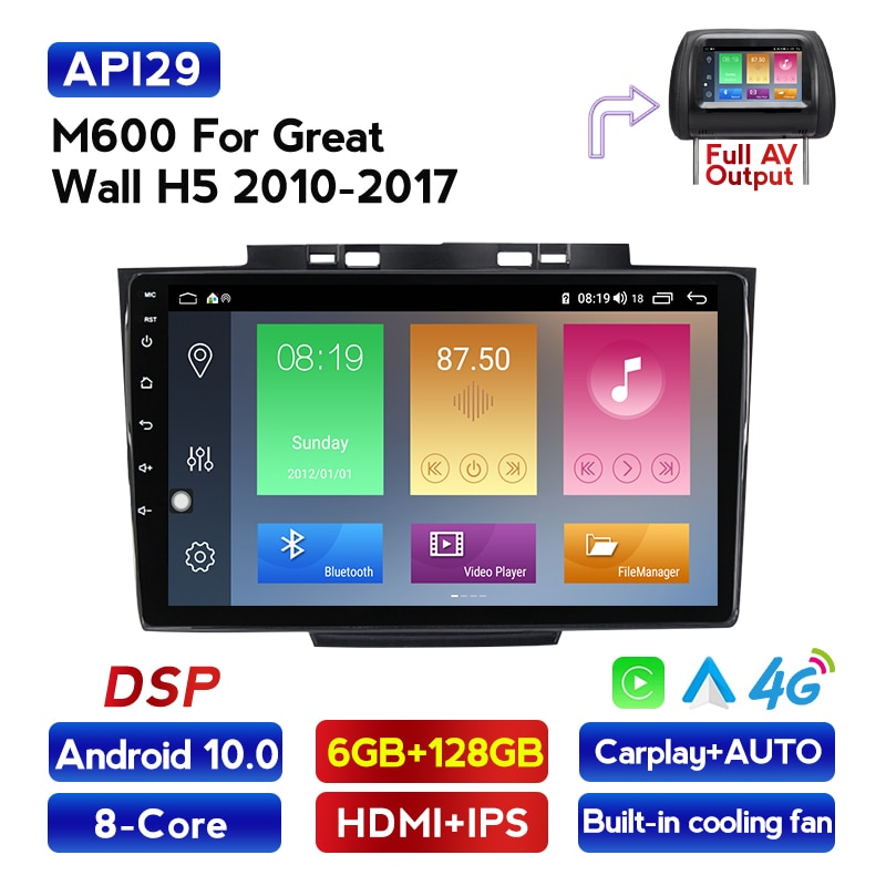 Mekede android 10 reprodutor multimídia de dvd do carro para o novo great wall haval pairar h3 h5 2013 reprodutor de áudio de vídeo do carro raido wifi 4g bt