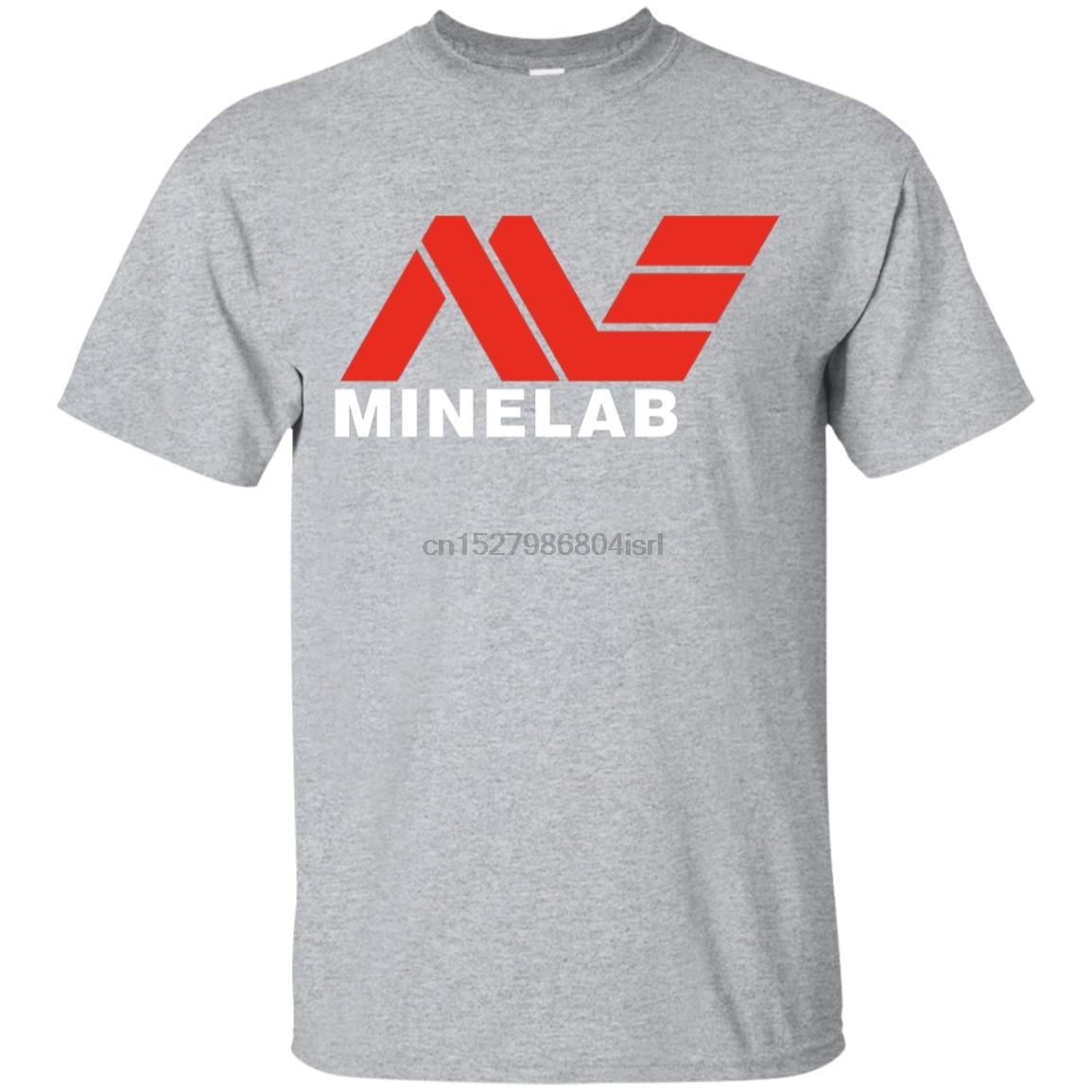 Minelab logo metal detectando gráfico t camisa