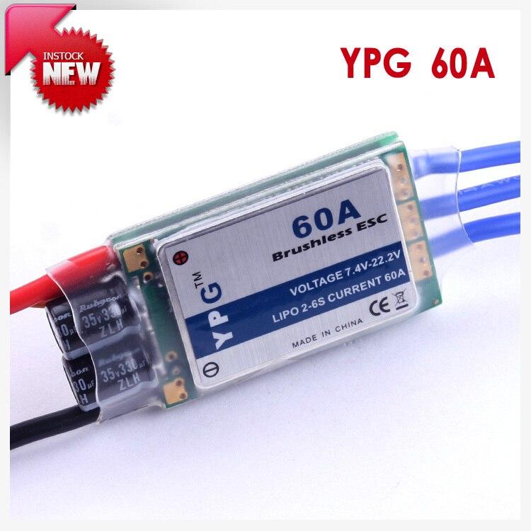 YPG 60A (2 ~ 6S) SBEC Bürstenlosen Speed Controller ESC Hoher Qualität
