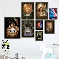 portrait of star wars anime poster disney darth vader retro movie canvas painting prints wall art picture for living home decor