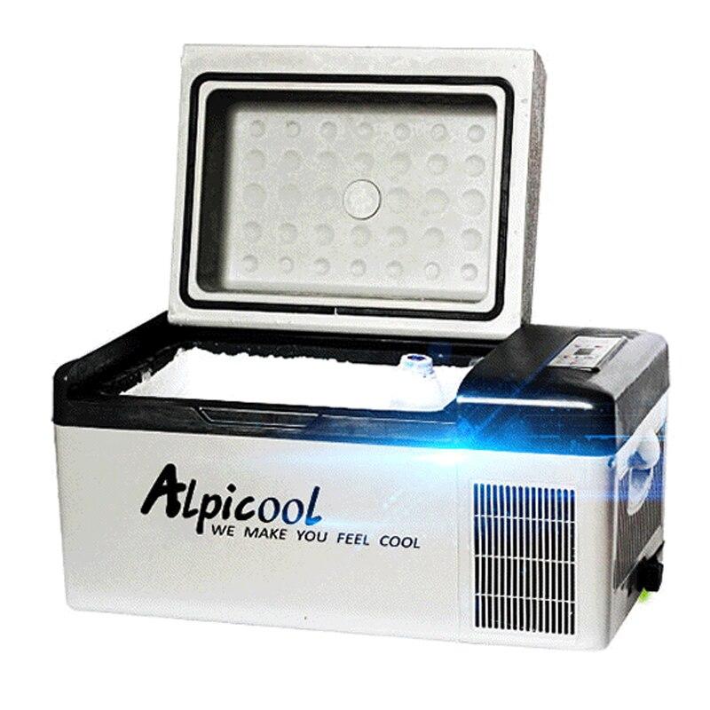 Refrigerador de coche 20L al aire libre auto-conducción viaje coche mini refrigerador de refrigeración mini refrigerador de casa