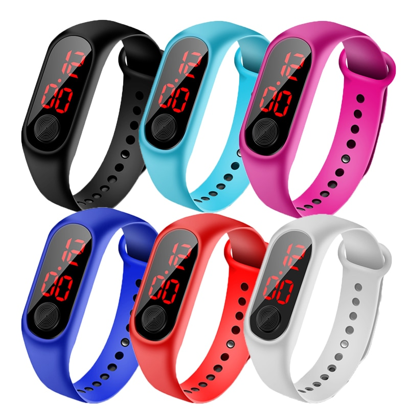 Children's Watch Led Sport Digital Waterproof Clock For Boys Girls Multifunction Electronic WristWat