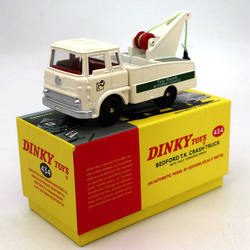 Atlas dinky brinquedos 434 bedford tk acidente caminhão com guincho totalmente operacional diecast modelos coleção edição limitada