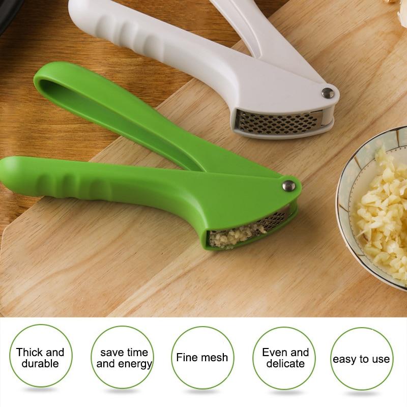 Kitchen Gadget Garlic Press Stainless Steel Multi-Function Manual Garlic Cloves Kitchen Garlic Press Tool