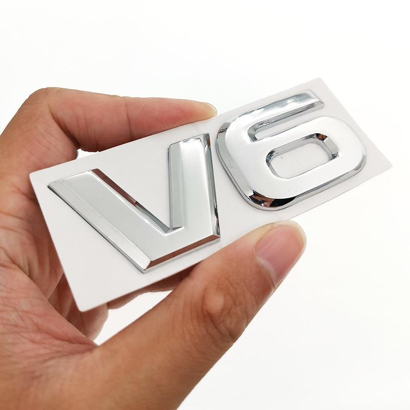 3D стикер логотипа для автомобиля эмблема автомобильный значок наклейка для V6 Mercedes BMW Audi Ford Fiesta Mustang Ranger Nissan Toyota Honda Стайлинг
