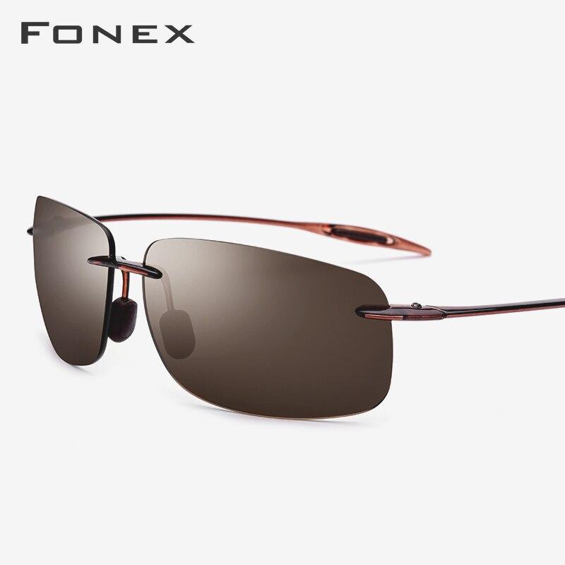Солнцезащитные очки Ultem TR90 без оправы, мужские высококачественные квадратные спортивные солнцезащитные очки для женщин, дизайнерские нейлоновые линзы в Корейском стиле, 1607
