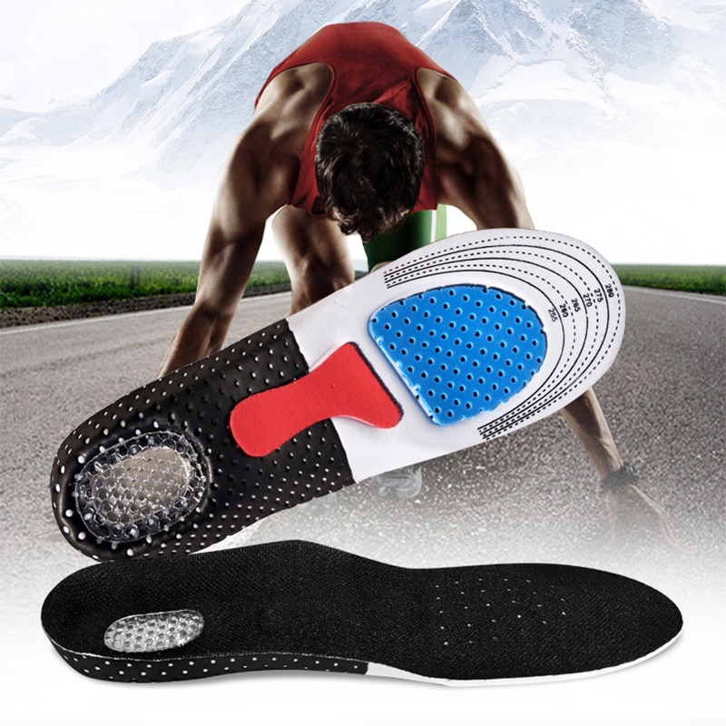 silicone non slip gel soft sport shoe insoles massaging insole orthopedic foot care for feet shoes sole shock absorption pads Sport Running Silicone Gel Insoles for feet Man Women for shoes sole orthopedic pad Massaging Shock Absorption Arch Support