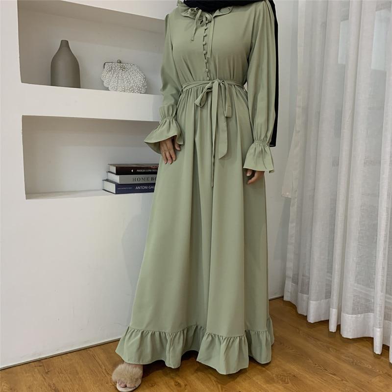 Шифон Абая в Дубае линшань платье Абайи для женщин ислама размера плюс, одежда, Vestidos, костюм, накидка, Восточный халат, халат Musulman De режим XL