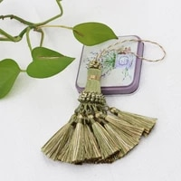 2pcs mini tassel hanging pendant decorative small tassel fringe trim curtains accessories key tassels for curtains