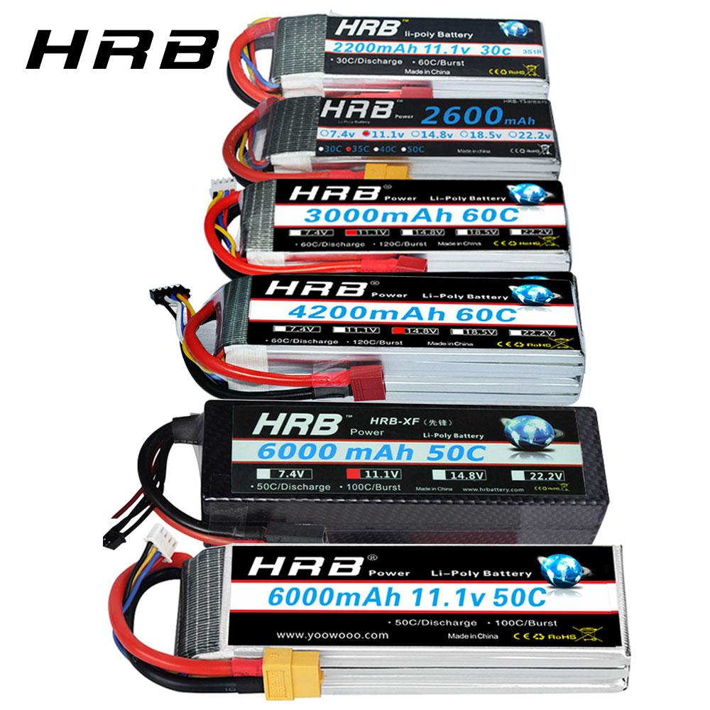 HRB RC Lipo Battery 2S 3S 4S 6S 11,1 v 2200mah 22,2 v 6000mah 1300mah