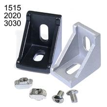 30 50pcs 1515 2020 3030 Serie Ecke Stück L Klammern Stecker Befestigen anschluss für 15S 20S 30 S Aluminium Extrusion Profil